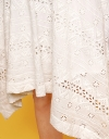 Fitted Embroidered Cascading Dress