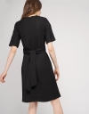 Sleeved Dress With Tied Detail