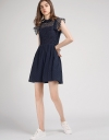Lace Dress With Contrast Gathered Skirt
