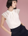 Lace-Trimmed Pleated Top