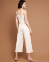 Strappy Wide-Leg Jumpsuit With Button Front