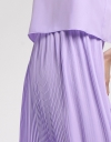 Layered Midi Dress With Pleated Skirt