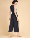 Strappy Pleated Wide-Leg Playsuit