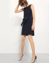 Drawstring Shift Dress