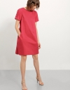 Cotton Dress With Knot Detail