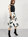 Printed Midi Dress With Frill Detail