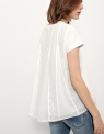 Flared Top With Contrast Lace Back