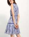 Panelled Dress In Bonded Lace