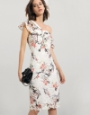 One-shoulder Lace Dress With Ruffles