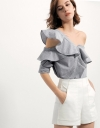Ruffled Off-shoulder Blouse