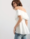 Strappy Top With Tiered Sleeves