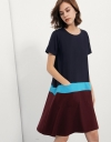 Flare Dress In Colour-block Jersey