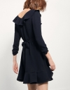 Short-sleeve Dress With Layered Skirt
