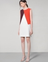 Shift Dress In Geometric Colour Blocking