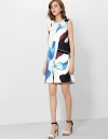 Shift Dress In Abstract Print