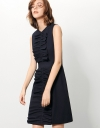 Shift Dress With Gathered Bow Front Detail
