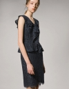 Fitted Dress With Ruffled Peplum