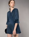 Twist Draped Front Romper