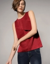 Trapezium Panelled Top In Tencel
