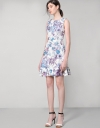 Printed Guipure Lace Fitted Dress